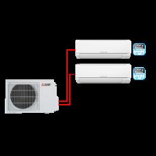 Настенный кондиционер (мульти-сплит система) Mitsubishi Electric MSZ-DM25VA + MSZ-DM35VA / MXZ-2DM40VA